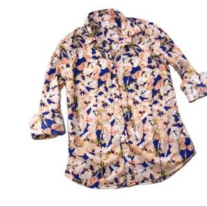 J. Crew Factory Classic Floral Button Down Top B36